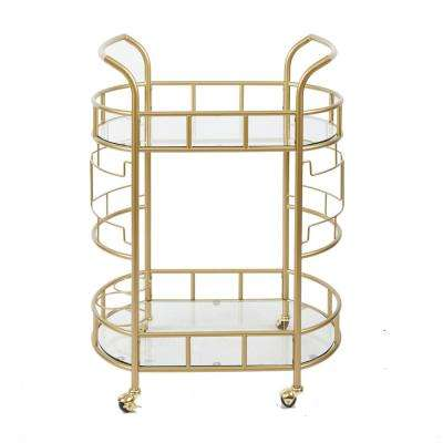 Jules Gold Bar Cart