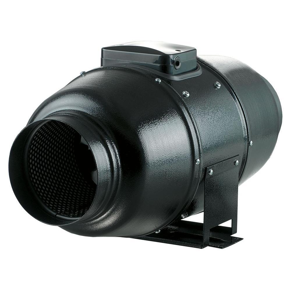 128 CFM Power 4 in. Quiet Energy Efficient Metal Mixed Fl...