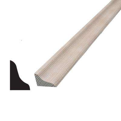 1/2 in. x 3/4 in. x 96 in. Hemlock Base Shoe Moulding