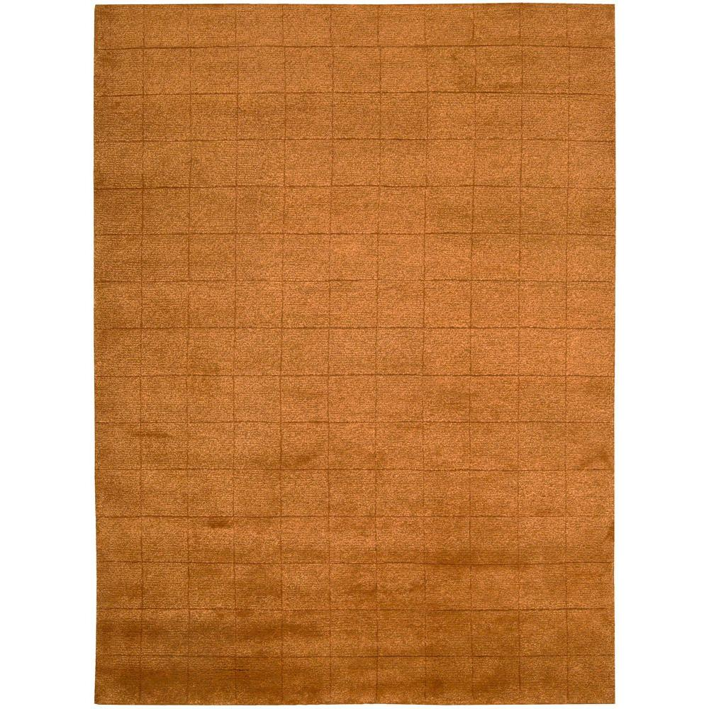 Nourison Overstock Satin Orange 8 ft. x 11 ft. Area Rug