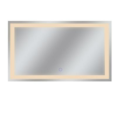 Edison Tri-Color 60 in. x 35 in. Single LED Wall Mounted Backlit LED Bathroom Mirror