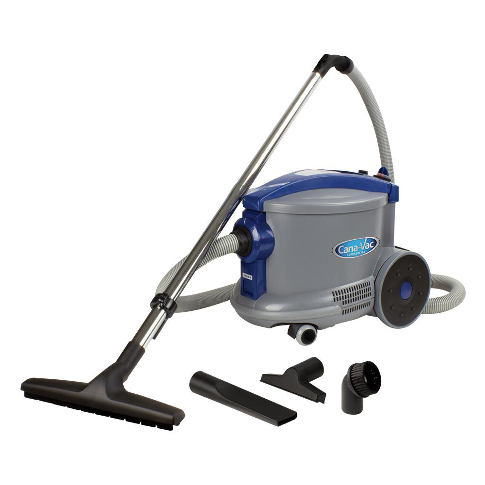 CANAVAC 4 Gal. Commercial Dry Canister Vacuum 1,300-Watt Motor for All Commercial Market Cleaning Requirement
