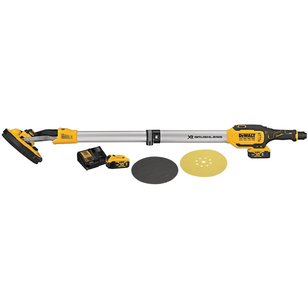 DEWALT 20-Volt MAX Lithium-Ion Cordless 9 inch Drywall Sander Kit w/ Two 5.0 Ahr Batteries and Charger