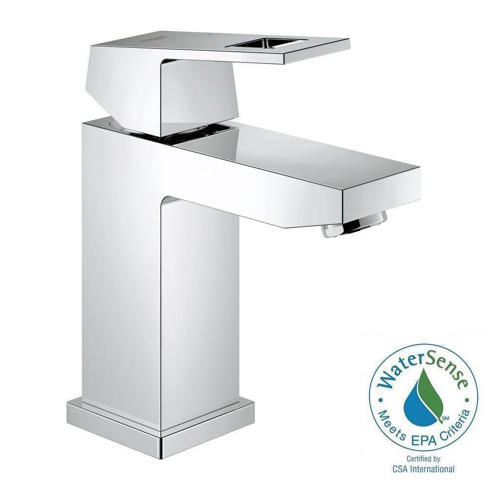 Eurocube Single Hole Single-Handle Bathroom Faucet in StarLight Chrome (Drain Not Included)