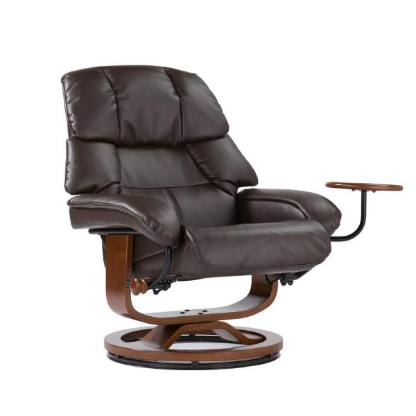 Sensational Cafe Brown Leather Reclining Chair With Ottoman Up7673Rc Pdpeps Interior Chair Design Pdpepsorg
