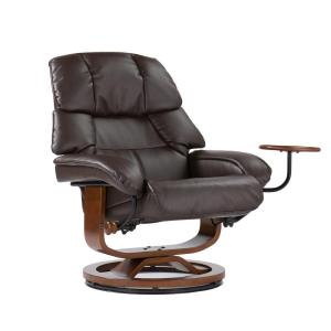 Internet #203138828. +2. Southern Enterprises Cafe Brown Leather Reclining Chair ...  sc 1 st  The Home Depot & Southern Enterprises Cafe Brown Leather Reclining Chair with ... islam-shia.org