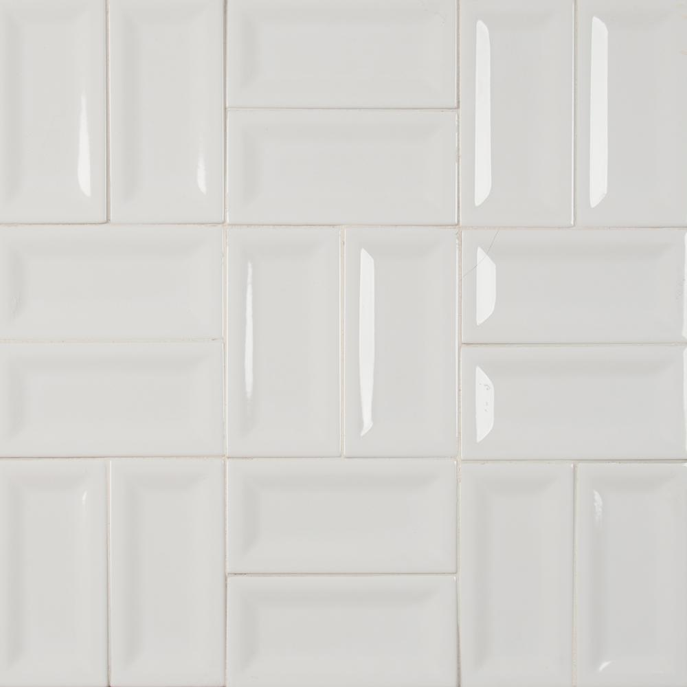 X 6 In Glossy Ceramic Wall Tile