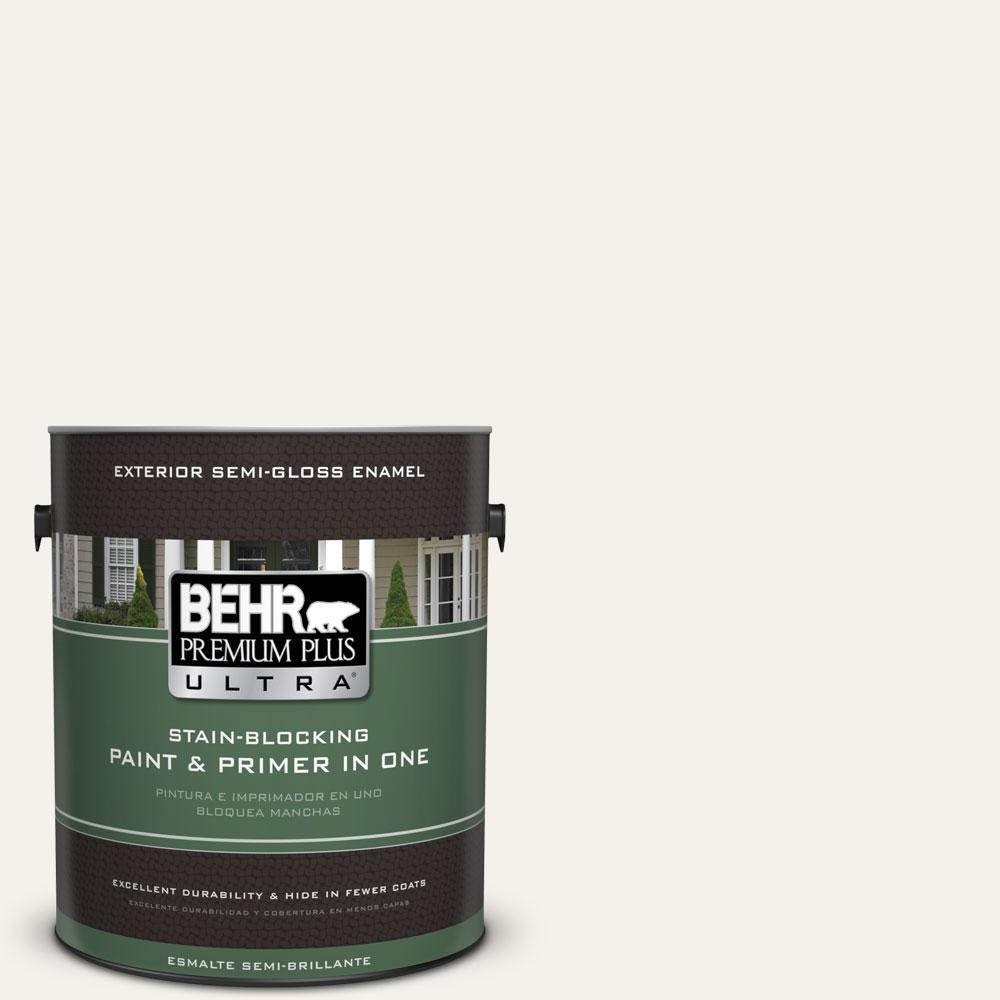 BEHR Premium Plus Ultra 1-gal. #W-F-700 Moon Rise Semi-Gloss Enamel Exterior Paint