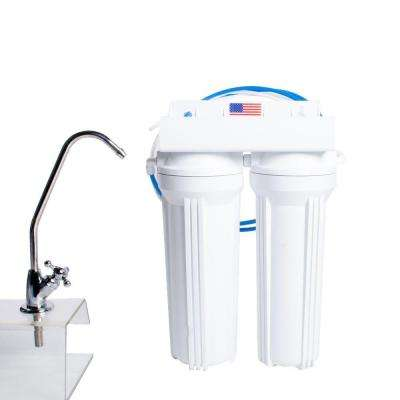 2-Stage Under Counter Filtration System in White