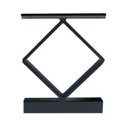 Black Aluminum Decorative Handrail Spacer (4-Pack)