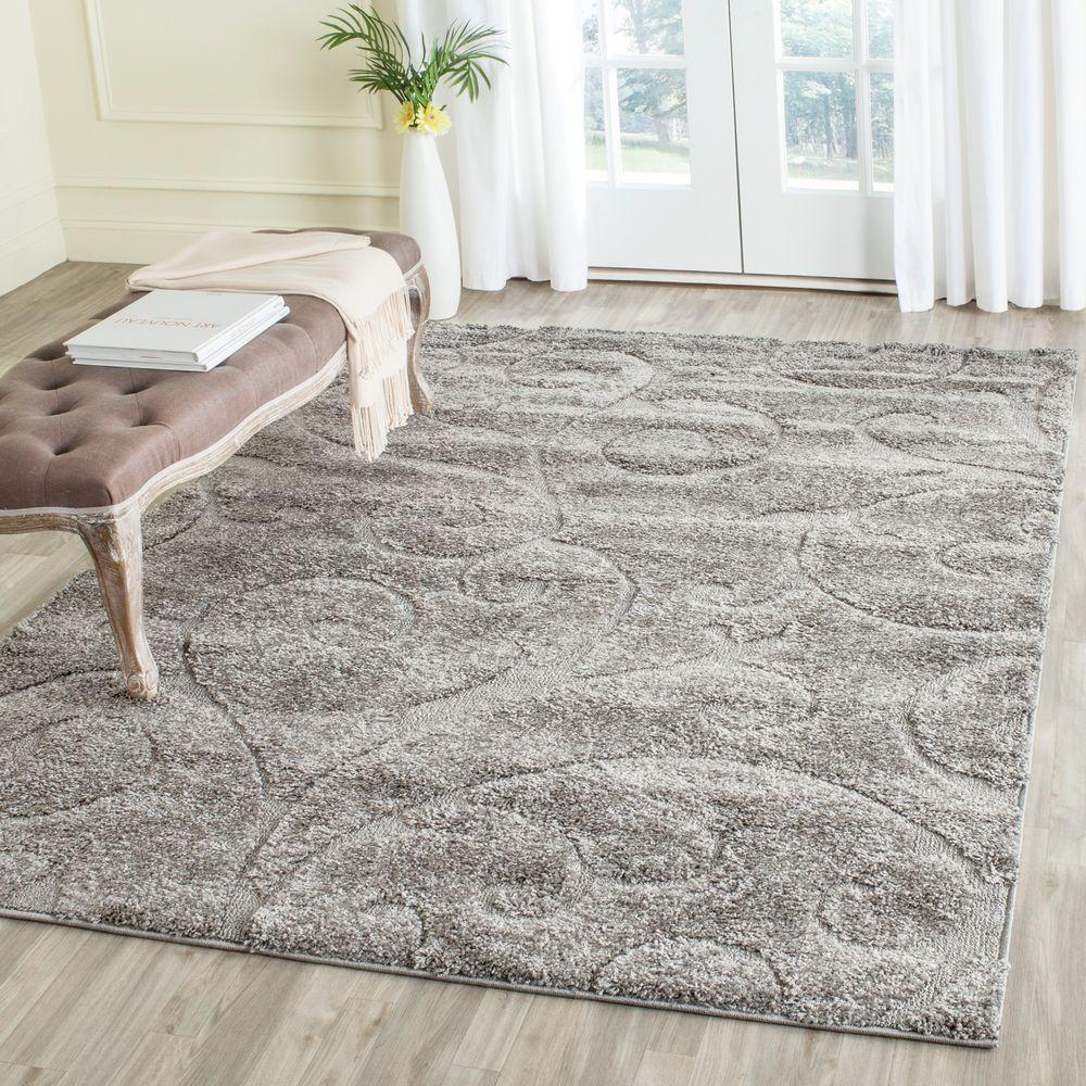 Safavieh Florida Shag Gray 5 Ft 3 In X 7 Ft 6 In Area