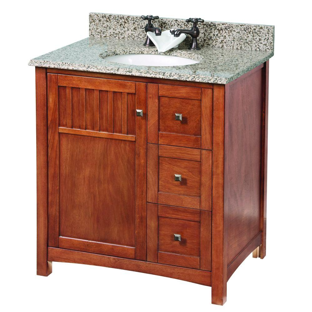 Home Decorators Collection Knoxville 30 In W X 21 63 D 34 H Vanity Cabinet Only Nutmeg