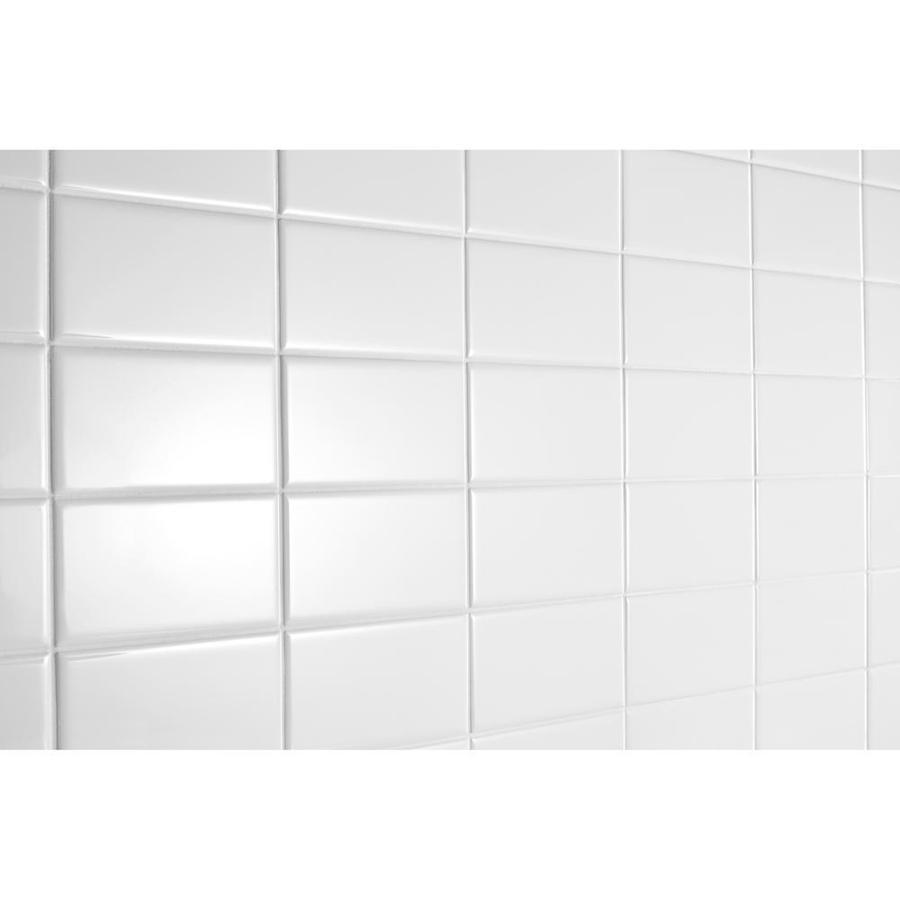 Glass Tiles for Kitchen Backsplash 3 x 6 Subway Backsplash Tiles Glossy Non-Sanded Grout for Installation G-24