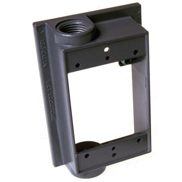 1 Gang Weatherproof Extension Adapter with Two 1/2 in. Outlets