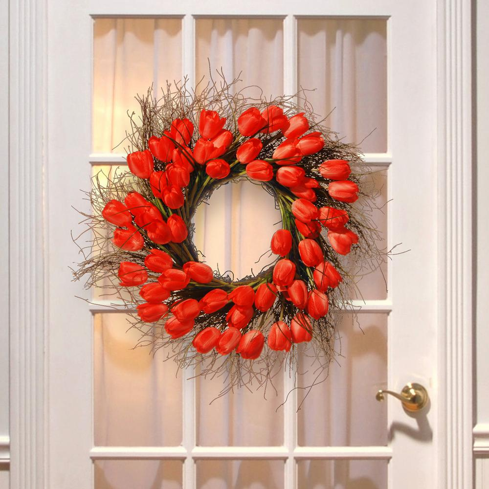 red tulip p wreaths the wreath decor tree national decorative company ras reds in pinks