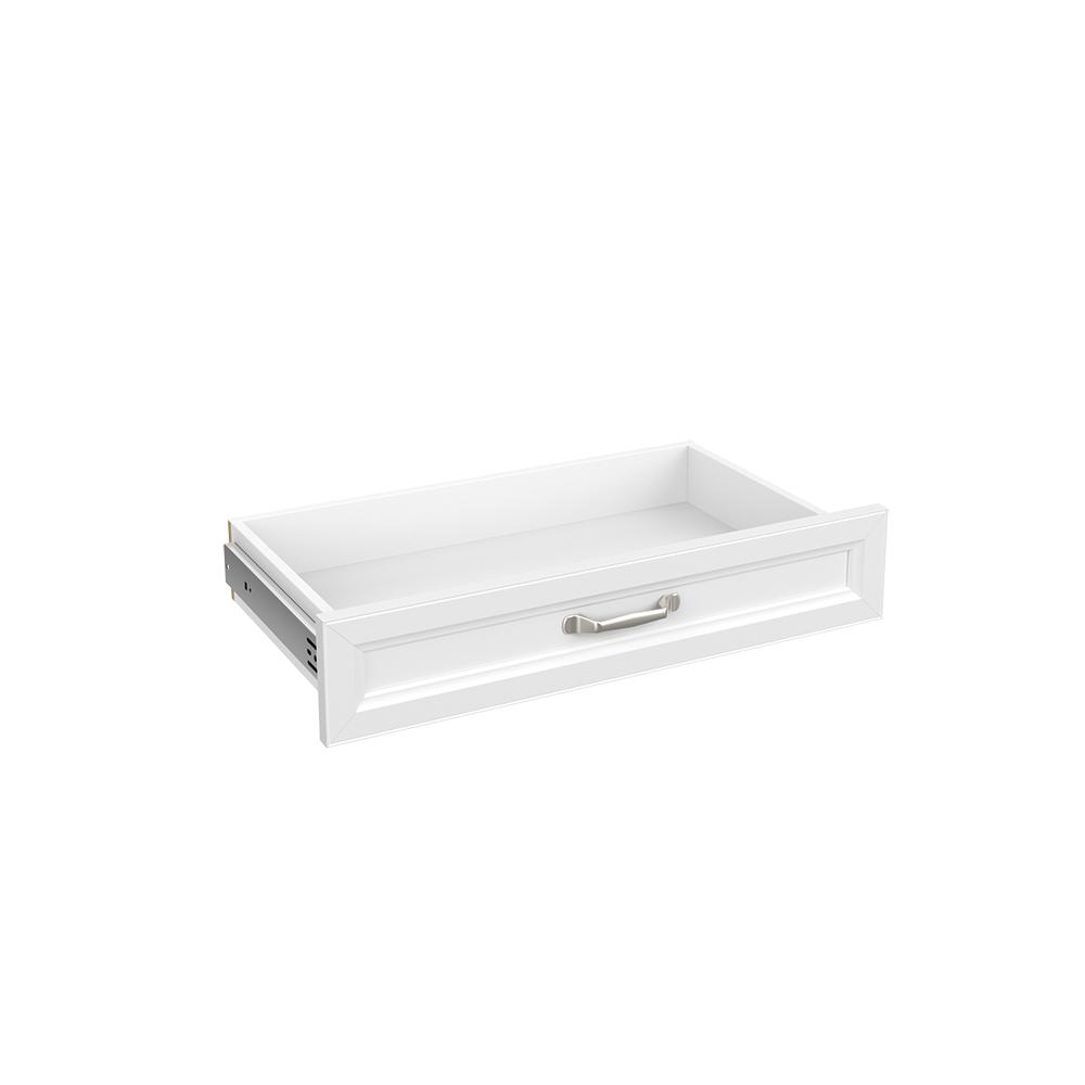 Style+ 5 in H x 25 in. W White Melamine Traditional
