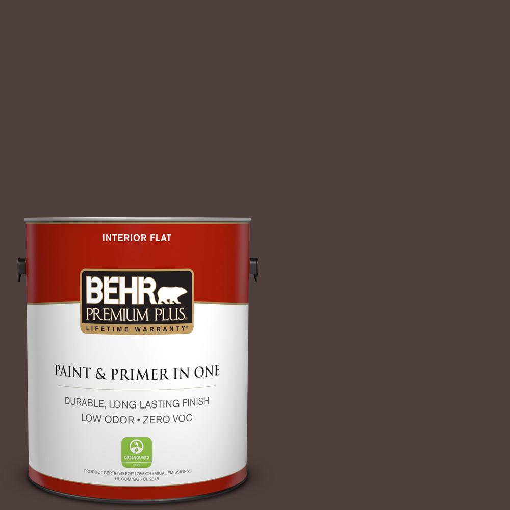 BEHR Premium Plus 1-gal. #BXC-87 Rich Bordeaux Flat Interior Paint