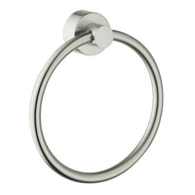 Axor Uno Towel Ring in Brushed Nickel