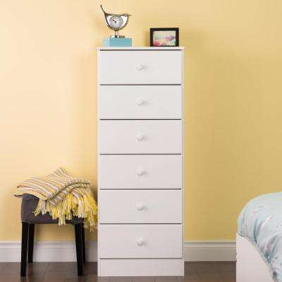 Astrid 6-Drawer White Chest