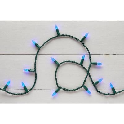 16.33 ft. 50-Light Blue LED Faceted C3 Super Bright Constant-On Light String