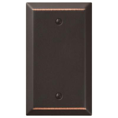 Metallic 1 Gang Blank Steel Wall Plate - Aged Bronze