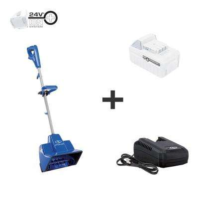 11 in. 24-Volt Cordless Snow Shovel Kit with 5.0 Ah Battery + Charger