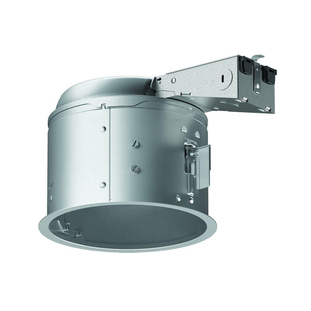 Aluminum Recessed Lighting Housing For Remodel Shallow Ceiling Insulation Contact Air E H27ricat The Home Depot