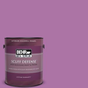 Behr Ultra 1 Gal 670b 6 Orchid Kiss Extra Durable Eggshell Enamel Interior Paint Primer 275301 The Home Depot