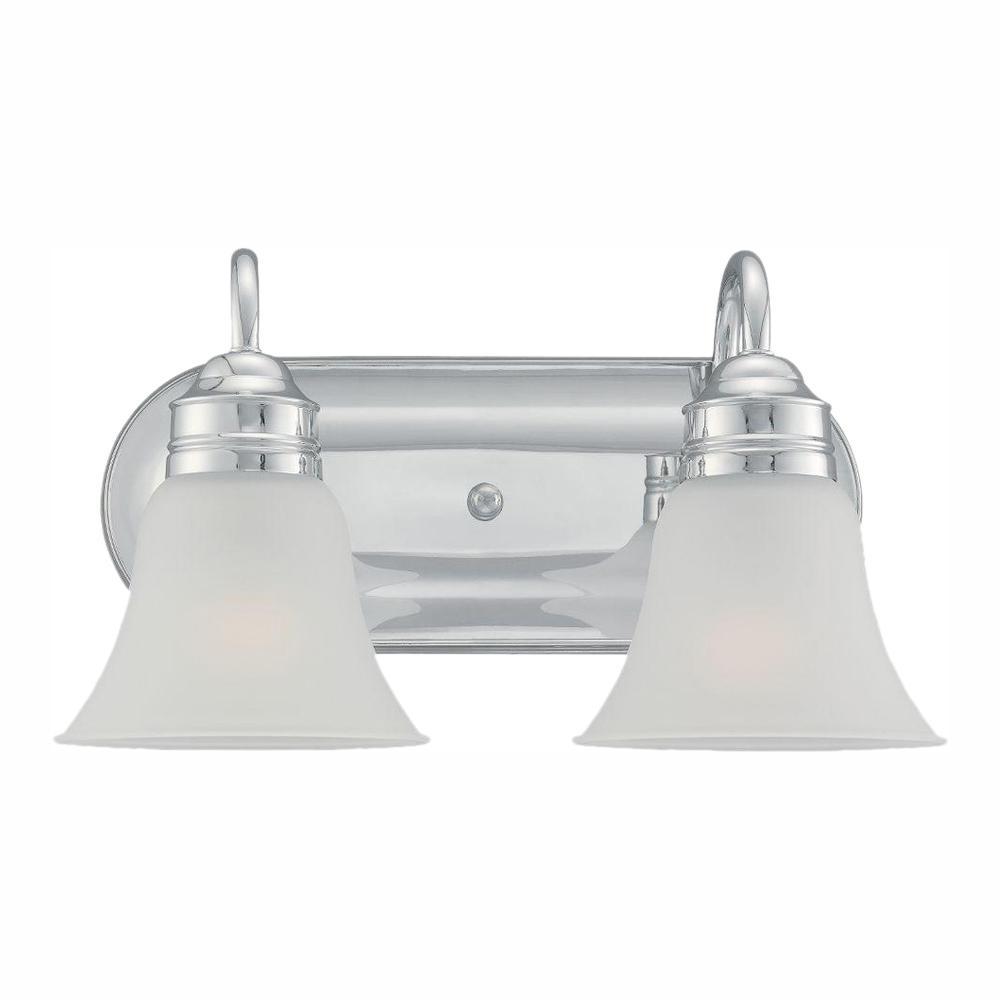 Gladstone 2-Light Chrome Bath Light