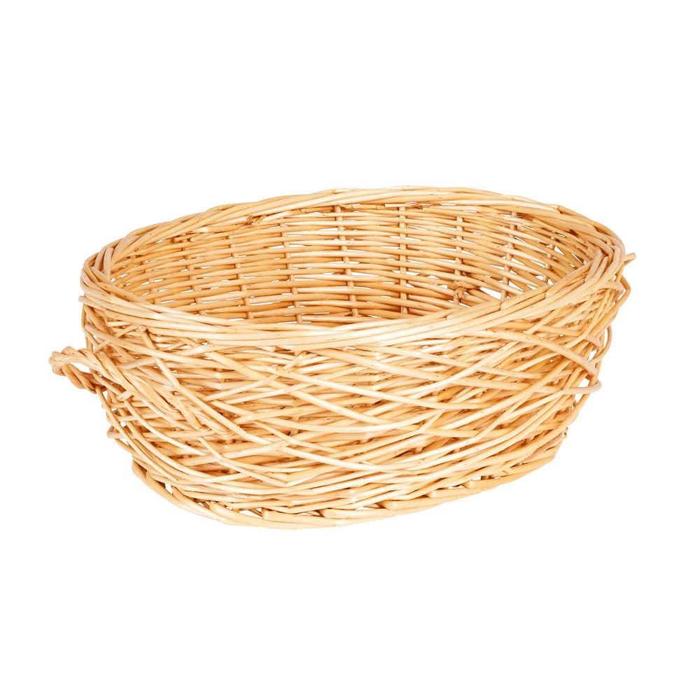 Household Essentials 14.6 in. x 5.2 in.Willow Oval Basket-ML-2246 ...