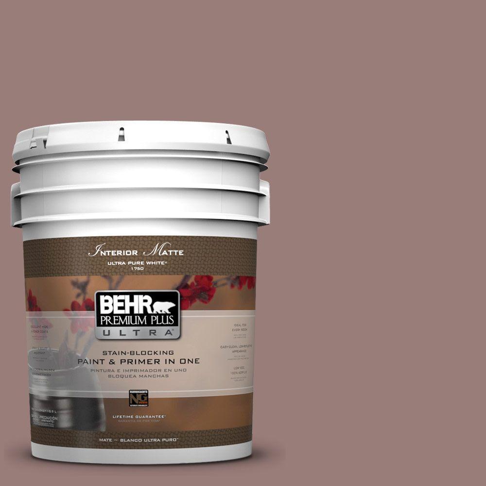BEHR Premium Plus Ultra 5 gal. #UL130-19 Cafe Ole Flat/Matte Interior Paint
