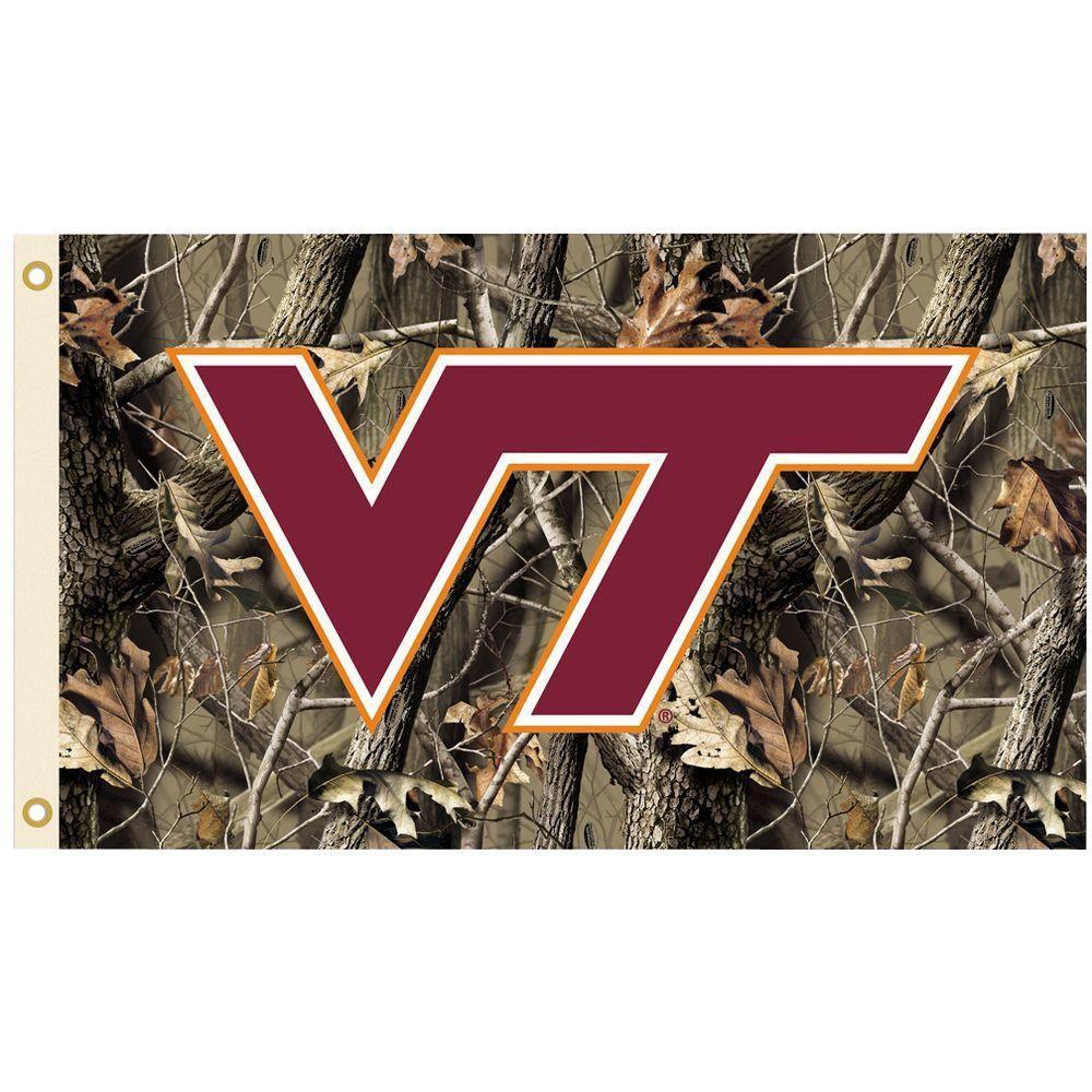NCAA 3 ft. x 5 ft. Realtree Camo Background Virginia Tech Flag