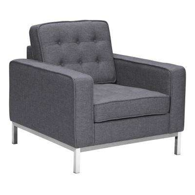 Chandler Dark Grey Fabric Sofa Chair
