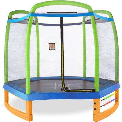 Jump and Play 7 ft. Trampoline Set