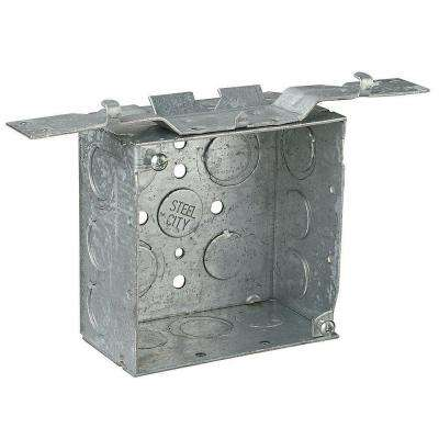 4 in. Metallic Square Box with CV Bracket (Case of 25)