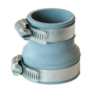 1-1/2 in. x 1-1/2 in. or 1-1/4 in. PVC Mechanical Drain and Trap Connector