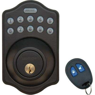 Electronic Keyless Deadbolt Lock With Remote Rubbed Bronze