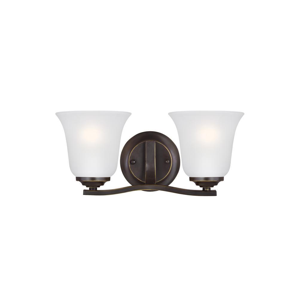Emmons 2-Light Heirloom Bronze Vanity