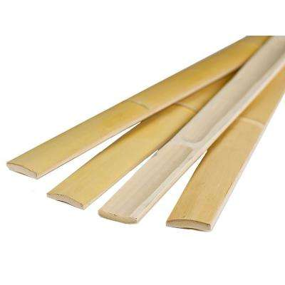 2 in. W x 96 in. H Natural Bamboo Slats Bundled (25-Pack)