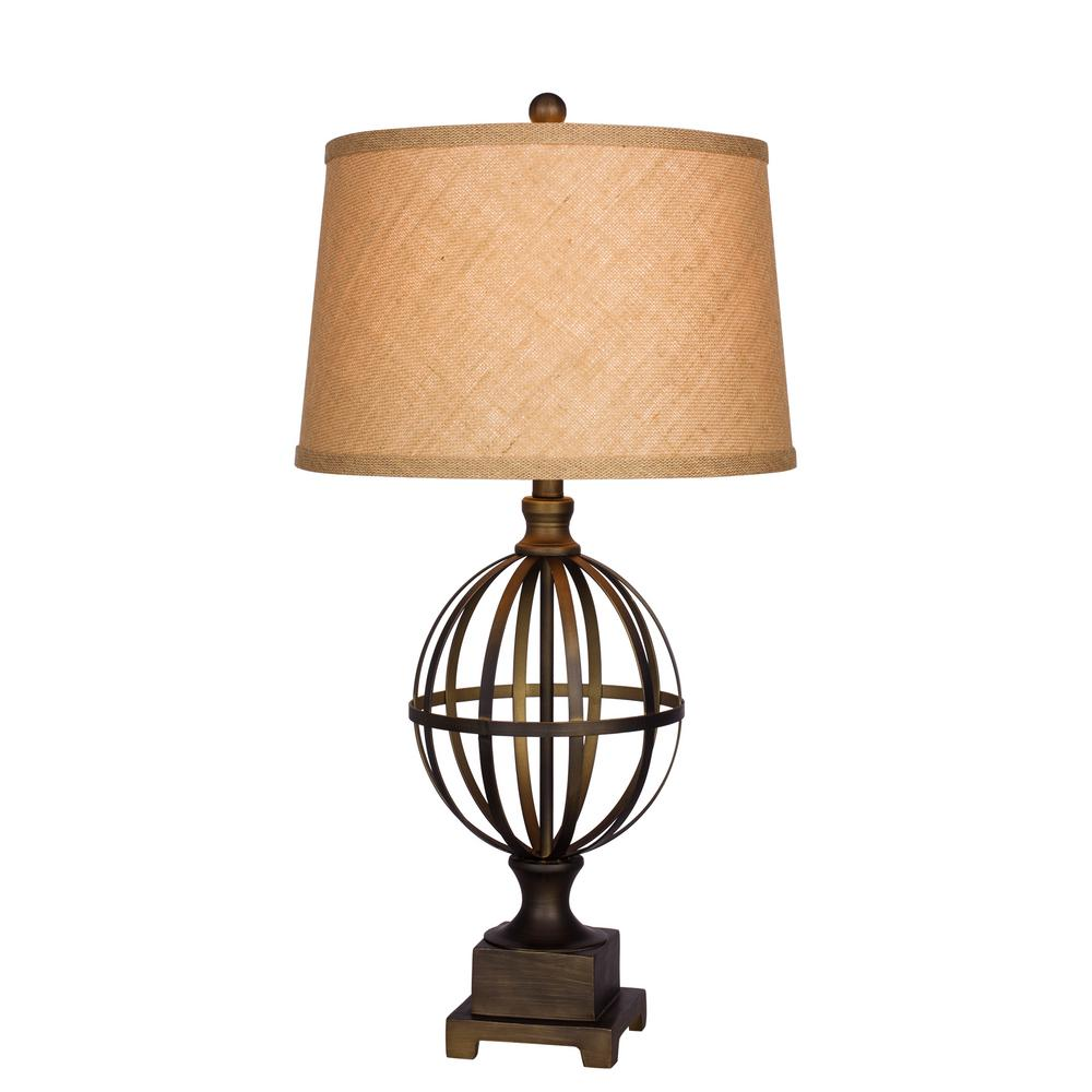30.5 in. Bronze Metal Table Lamp