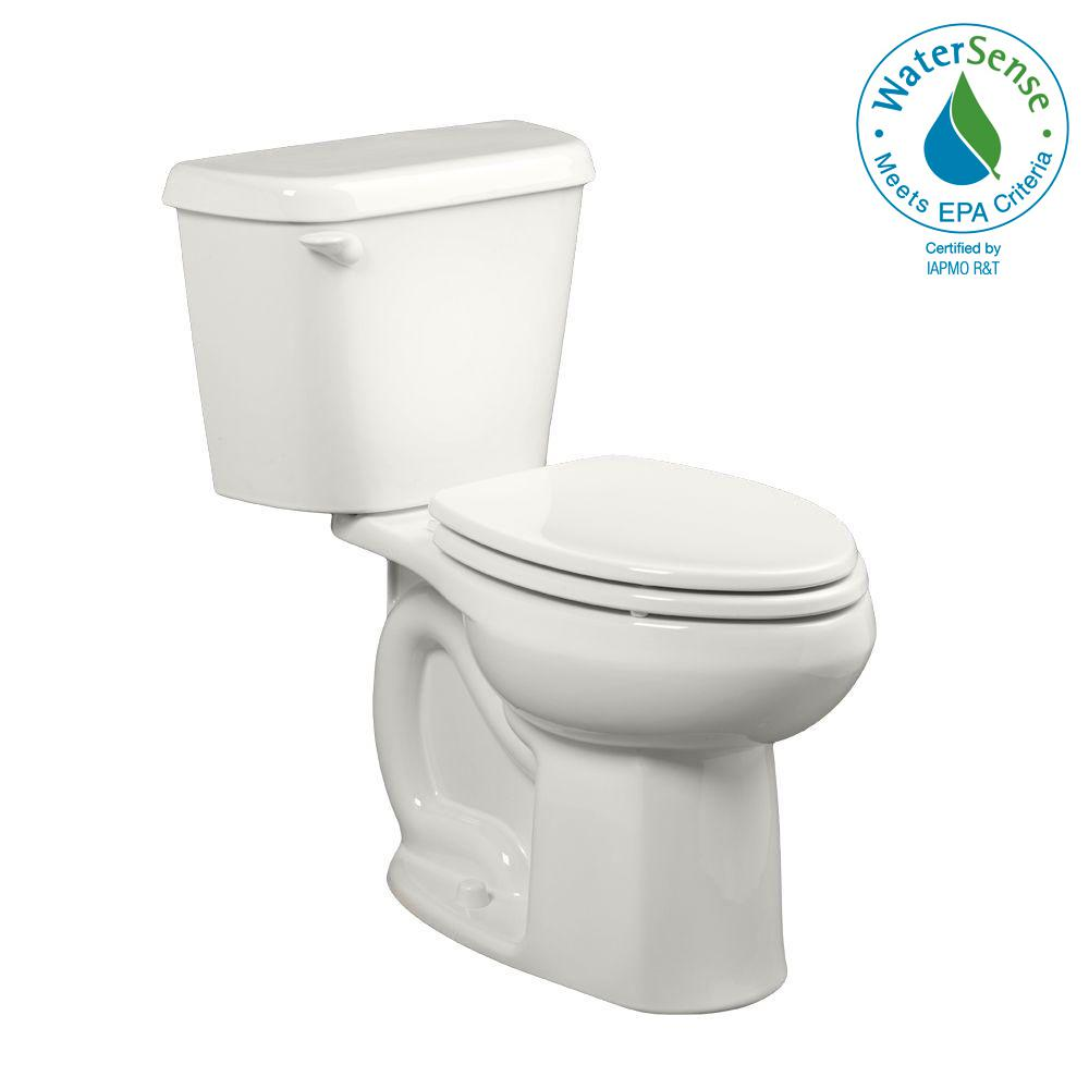 Colony 2-piece 1.28 GPF Single Flush High-Efficiency Elongated Toilet in White,