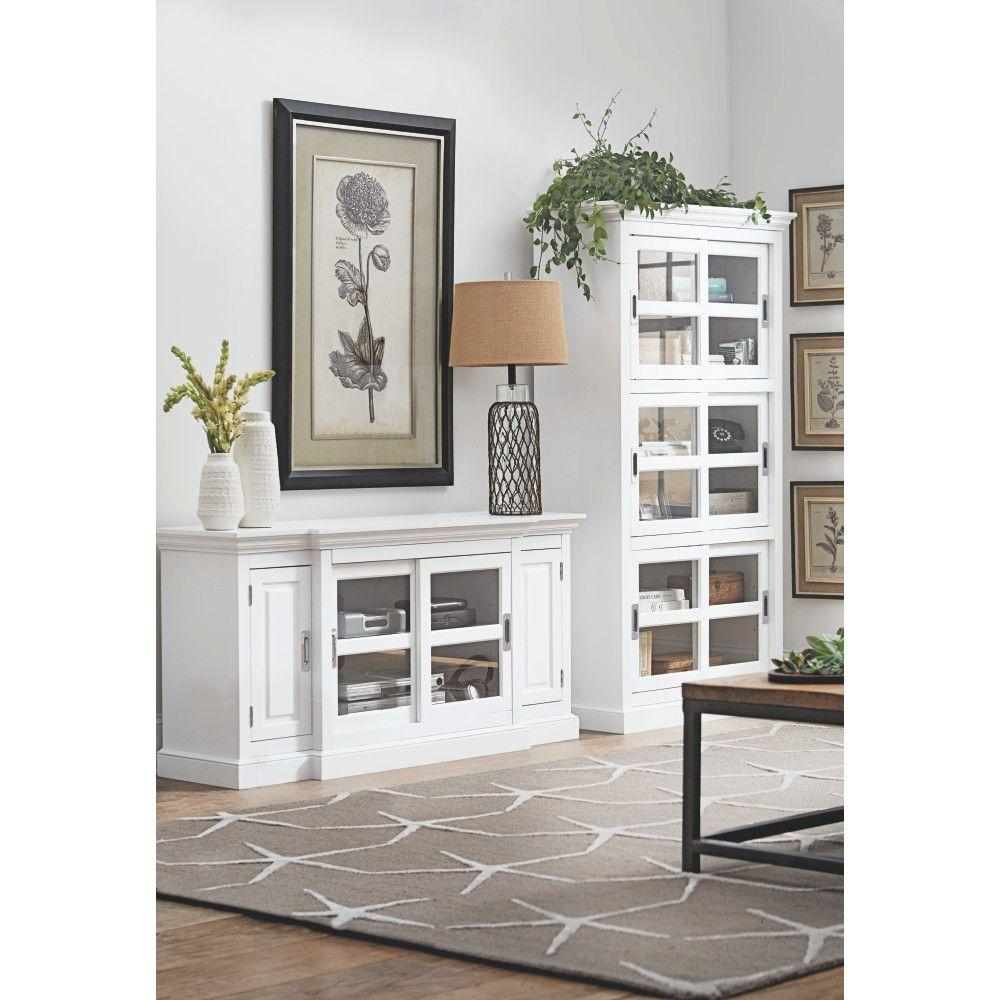 Home Decorators Collection Lexington White Entertainment Center 8059700810 The Home Depot