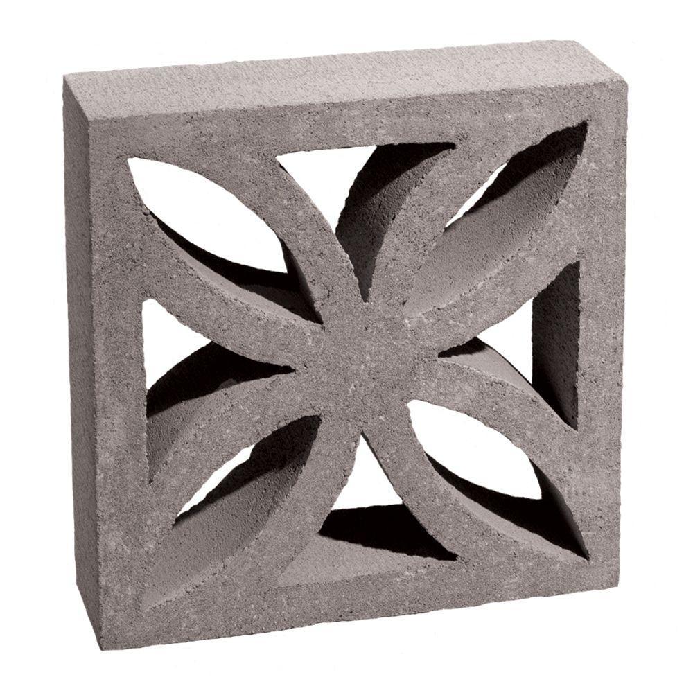 12 in x 12 in x 4 in gray concrete block 100002873