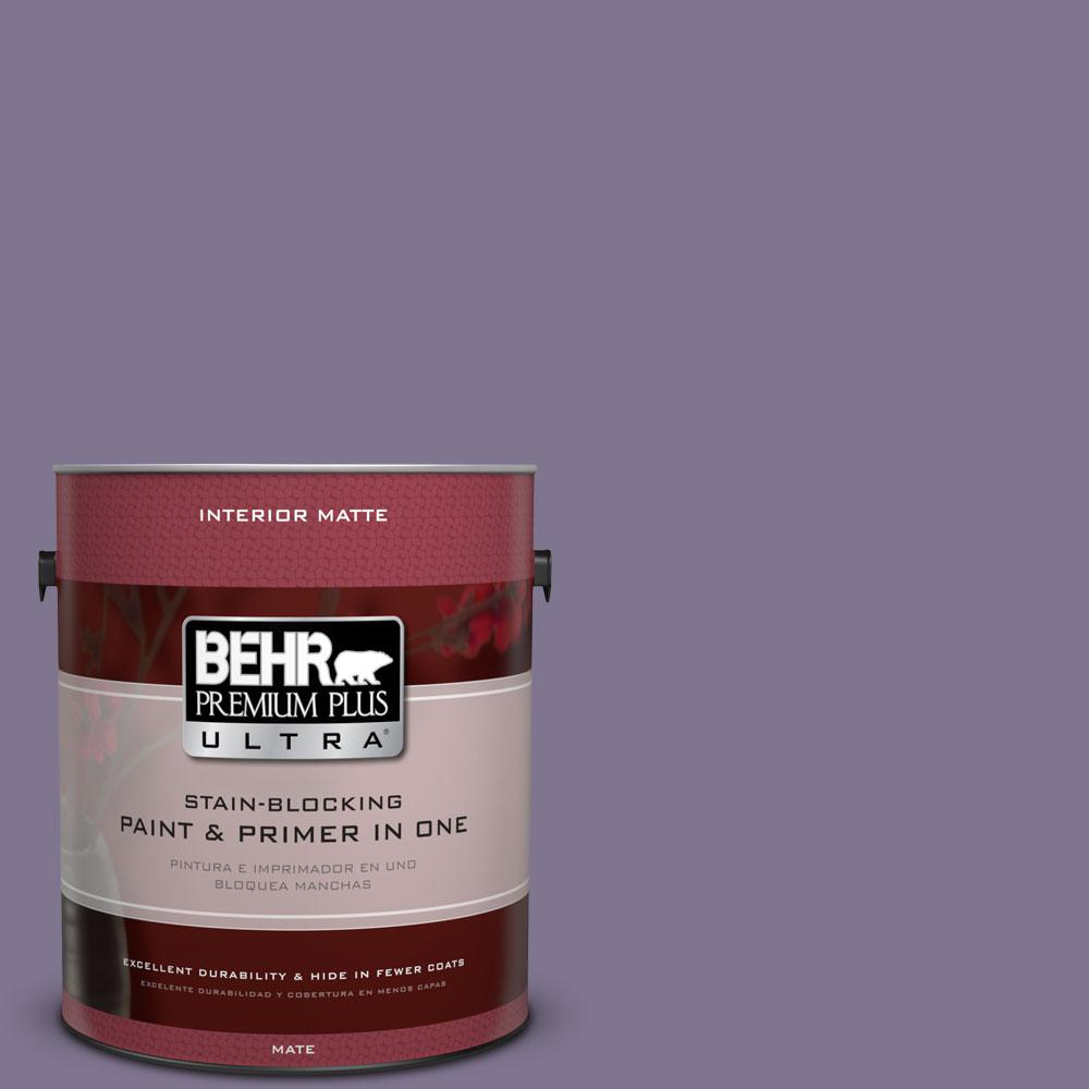 1 gal. #650F-5 Purple Statice Flat/Matte Interior Paint