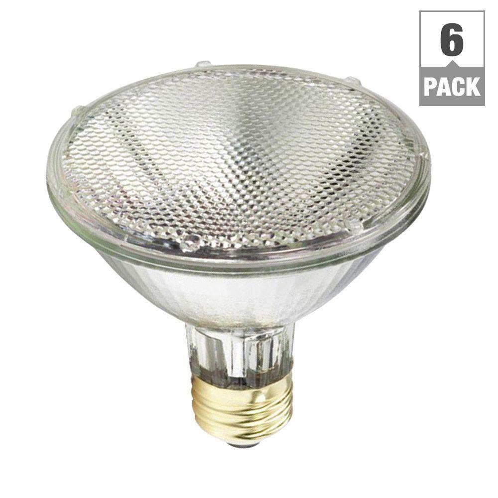 75W Equivalent Halogen PAR30S Indoor/Outdoor Dimmable Flood Light Bulb (6-Pack)