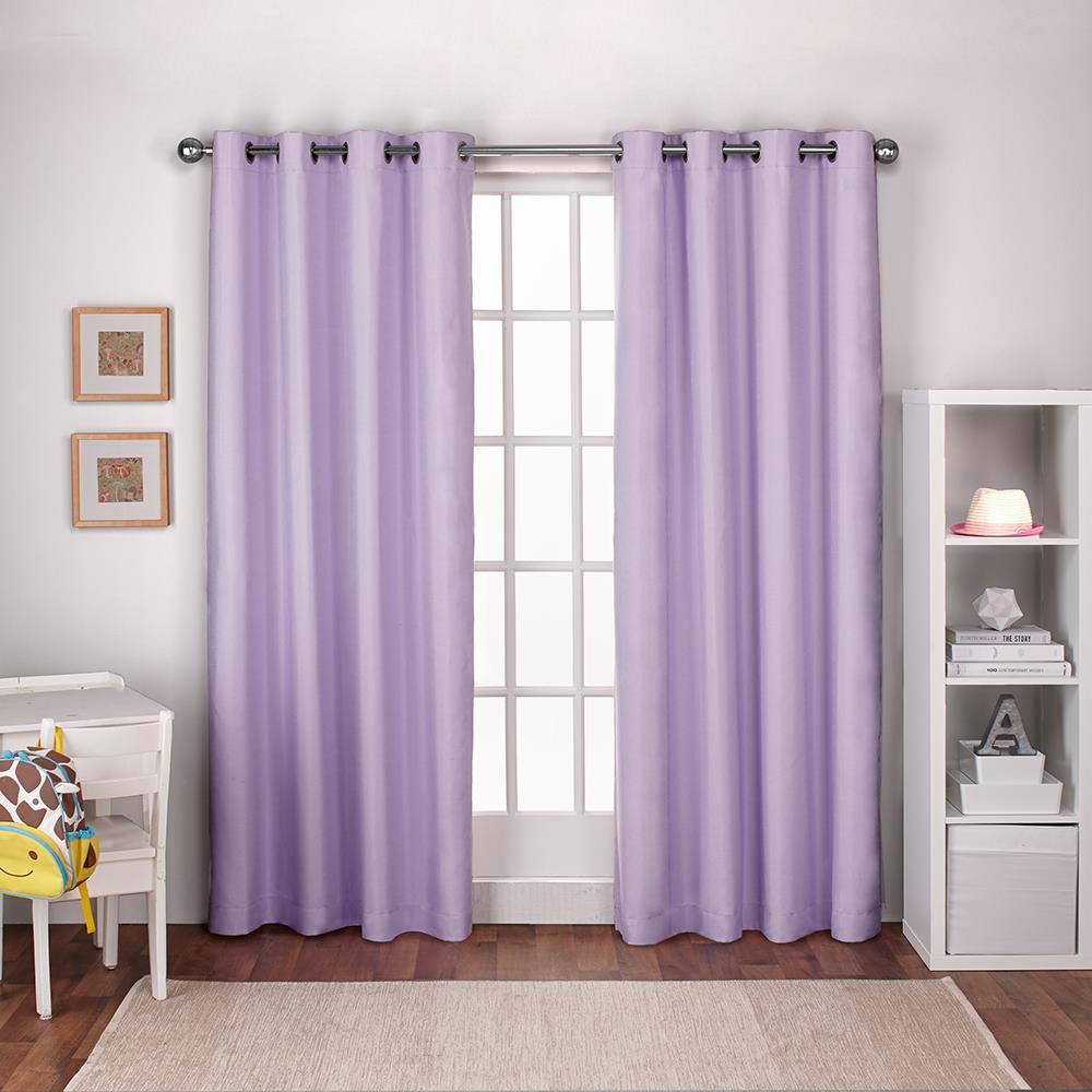 purple grommet curtains