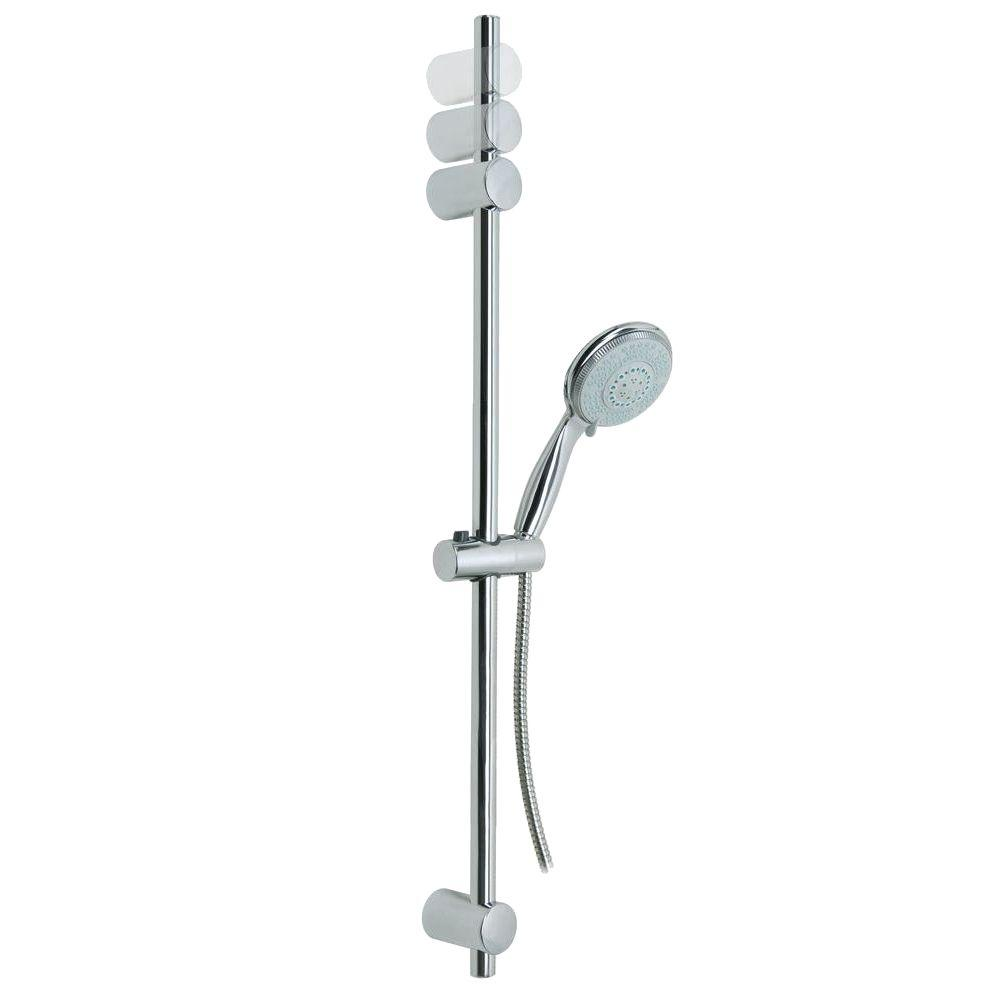 No Drilling Required Baath Plus 35 in. Adjustable Hand Shower Bar ...