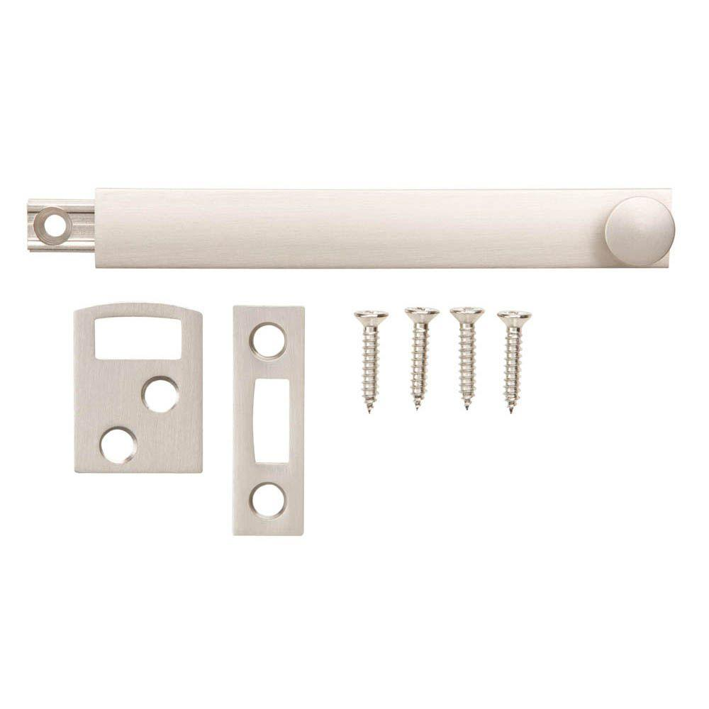 4 in. Satin Nickel Surface Bolt
