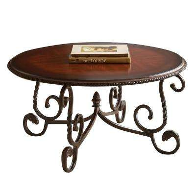 Excellent Round Cherry Coffee Tables Accent Tables The Home Depot Dailytribune Chair Design For Home Dailytribuneorg