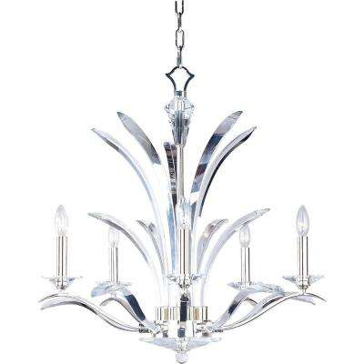 Paradise 5-Light Plated Silver Chandelier